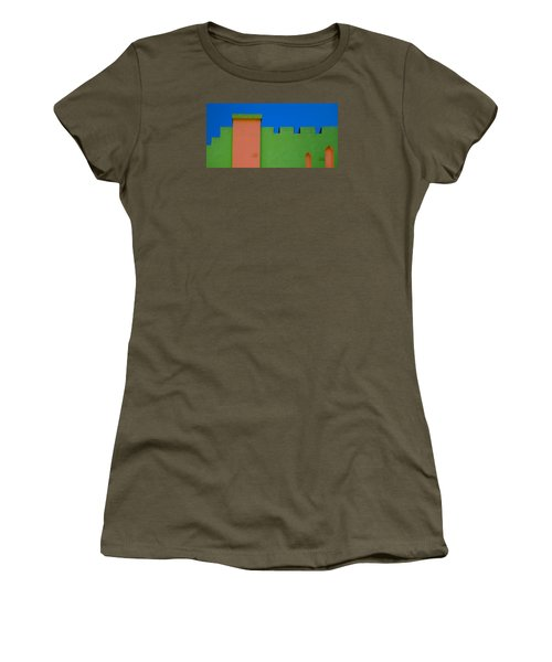 Crenellated Roof Women's T-Shirt (Junior Cut)