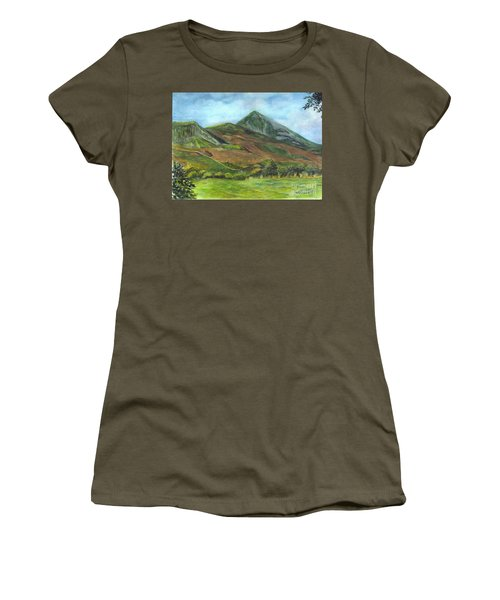 Croagh Saint Patricks Mountain In Ireland  Women's T-Shirt (Athletic Fit)