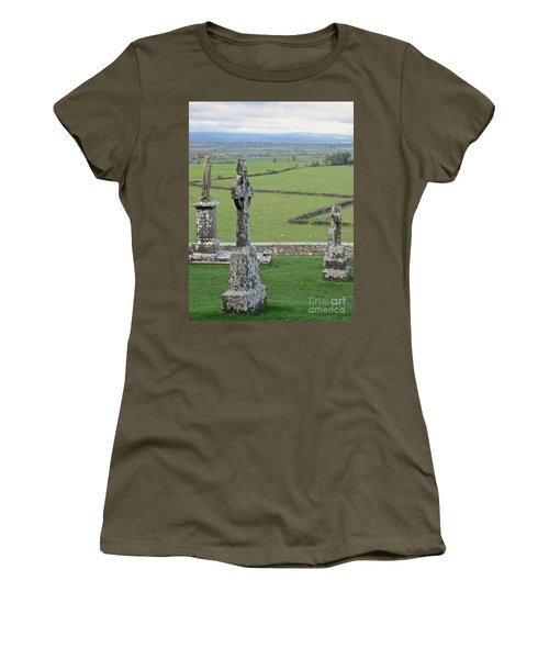Women's T-Shirt (Junior Cut) featuring the photograph Crosses Of Cashel by Suzanne Oesterling