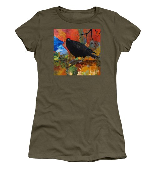 Crow On A Branch Women's T-Shirt