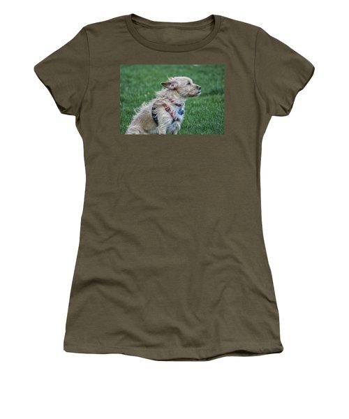 Women's T-Shirt (Junior Cut) featuring the photograph Cruz Enjoying A Warm Gentle Breeze by Thomas Woolworth