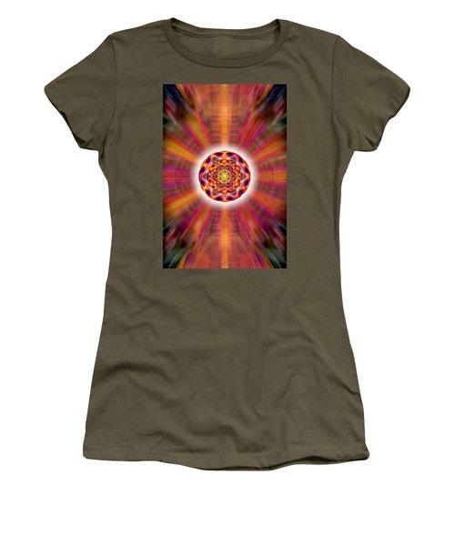 Women's T-Shirt (Junior Cut) featuring the drawing Crystal Ball Of Light by Derek Gedney