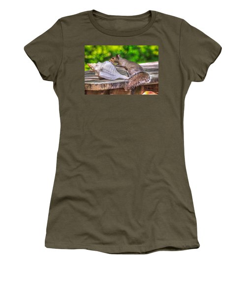 Women's T-Shirt (Junior Cut) featuring the photograph Curious Squirrel by Rob Sellers