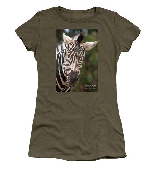 Curious Zebra Women's T-Shirt (Athletic Fit)
