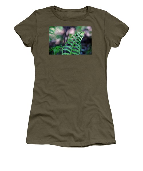 Women's T-Shirt (Junior Cut) featuring the photograph Curls by Debbie Oppermann