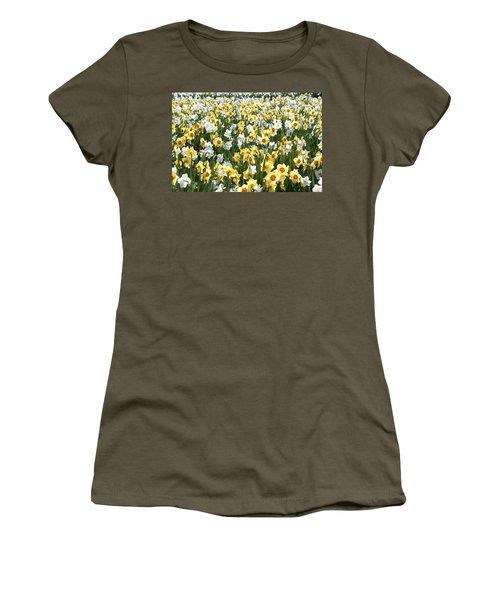 Daffodils Women's T-Shirt (Junior Cut) by Lana Enderle