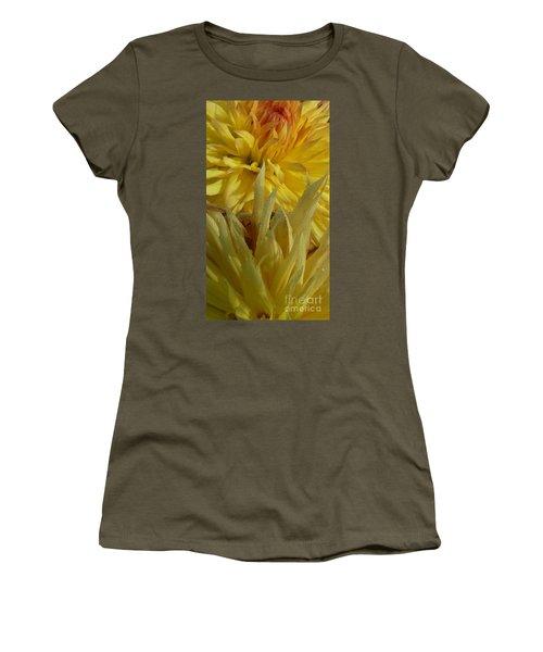 Dahlia Dew Yellow Women's T-Shirt (Junior Cut) by Susan Garren