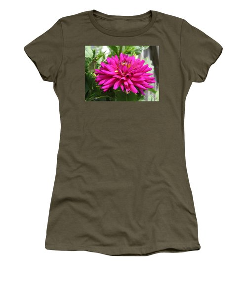 Women's T-Shirt (Junior Cut) featuring the photograph Dahlia Named Andreas Dahl by J McCombie