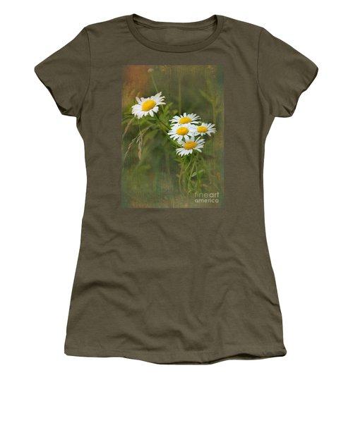 Daisies Women's T-Shirt (Junior Cut) by Lena Auxier