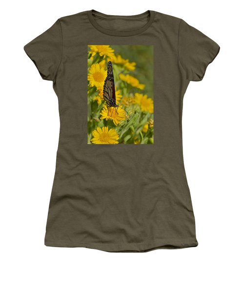 Women's T-Shirt (Junior Cut) featuring the photograph Daisy Daisy Give Me Your Anther Do by Gary Holmes