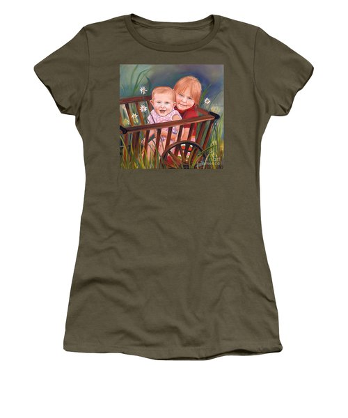 Daisy - Portrait - Girls In Wagon Women's T-Shirt (Athletic Fit)