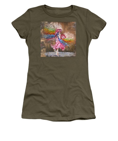 Dance Through The Color Of Life Women's T-Shirt (Athletic Fit)