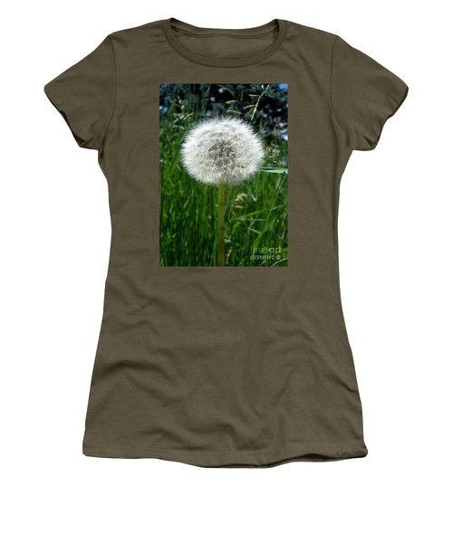 Dandelion Fluff Women's T-Shirt (Junior Cut) by Kerri Mortenson