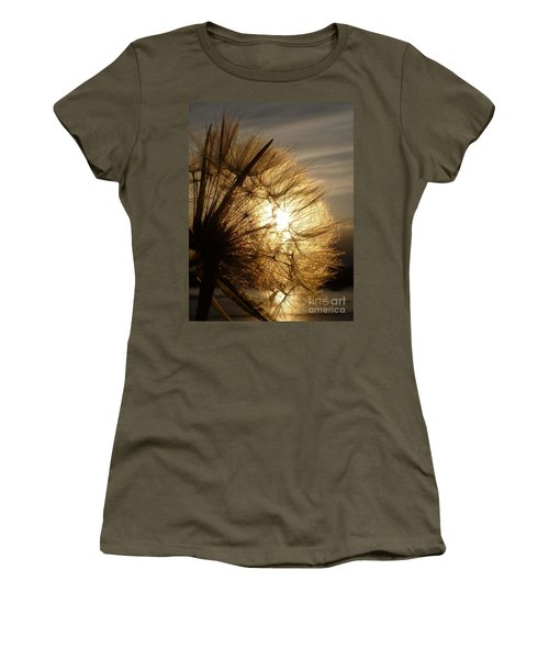 Dandelion Sunset Women's T-Shirt (Athletic Fit)