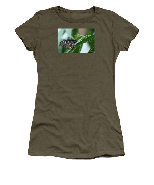 Dark Blue Tiger Butterfly #2 Women's T-Shirt (Junior Cut) by Judy Whitton