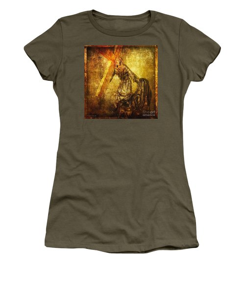Daughters Of Jerusalem Via Dolorosa 8 Women's T-Shirt (Junior Cut) by Lianne Schneider