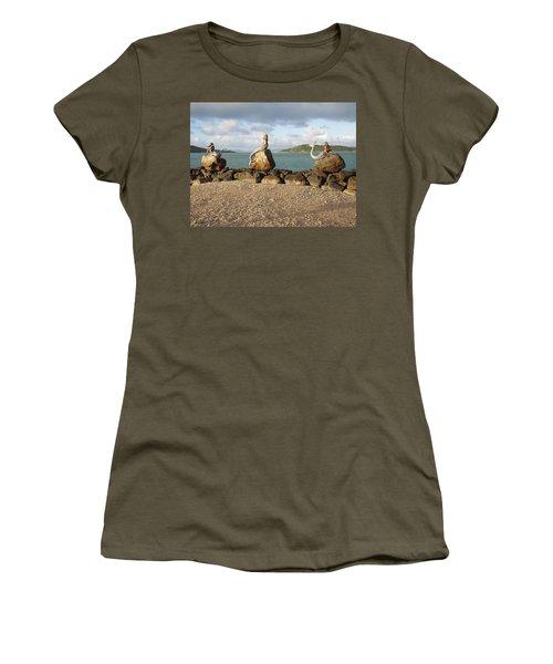 Women's T-Shirt (Junior Cut) featuring the photograph Daydream Mermaids by Absinthe Art By Michelle LeAnn Scott