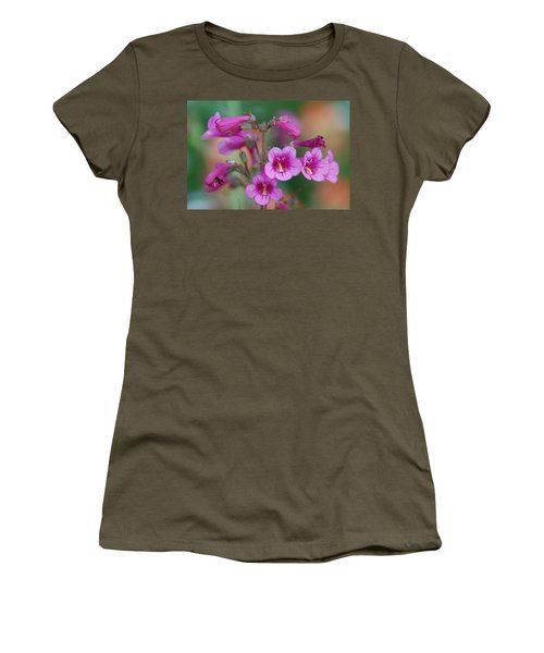 Women's T-Shirt (Junior Cut) featuring the photograph Pink Flowers by Tam Ryan
