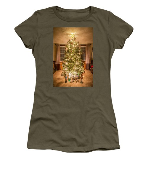 Women's T-Shirt (Junior Cut) featuring the photograph Decorated Christmas Tree by Alex Grichenko