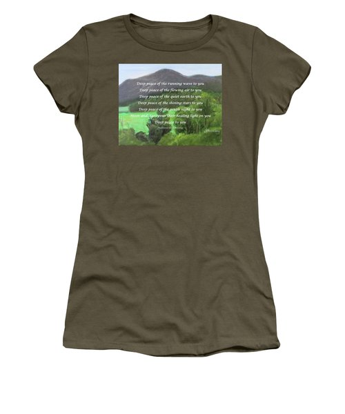 Deep Peace With Ct River Valley Women's T-Shirt (Athletic Fit)