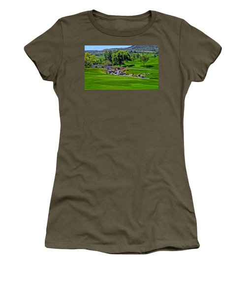 Women's T-Shirt (Junior Cut) featuring the painting Del Mar Country Club by Michael Pickett