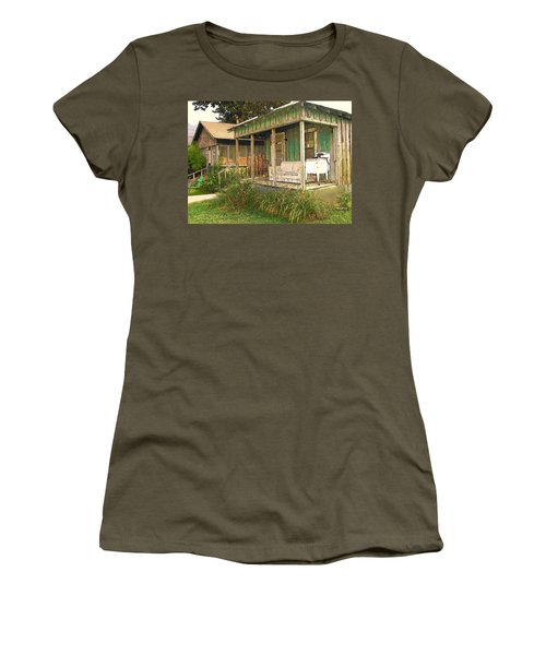 Delta Sharecropper Cabin - All The Conveniences Women's T-Shirt (Junior Cut) by Rebecca Korpita