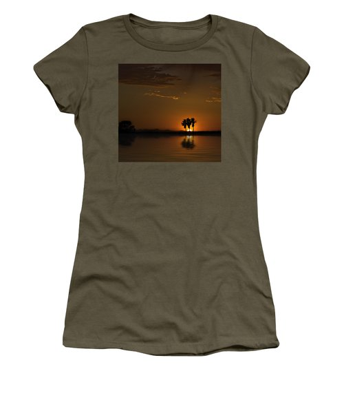 Desert Sunset Women's T-Shirt (Junior Cut) by Lynn Geoffroy