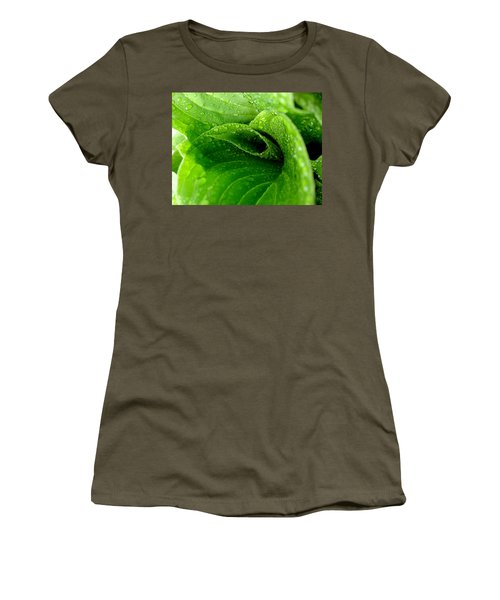 Women's T-Shirt (Junior Cut) featuring the photograph Dew Drops by Lisa Phillips