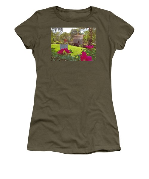 Women's T-Shirt (Junior Cut) featuring the photograph Dexters Grist Mill Two by Barbara McDevitt
