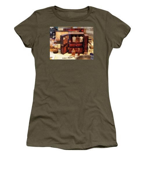Women's T-Shirt (Junior Cut) featuring the photograph Doctor - Case With Medicine Bottles by Susan Savad