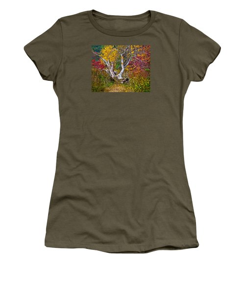 Women's T-Shirt (Junior Cut) featuring the digital art Dog Tree by Mary Almond