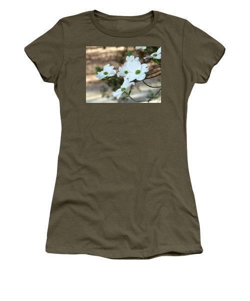 Women's T-Shirt (Junior Cut) featuring the photograph Dogwood 2 by Andrea Anderegg