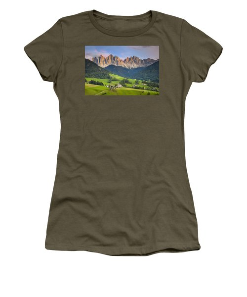 Women's T-Shirt featuring the photograph Dolomites From Val Di Funes by Brian Jannsen