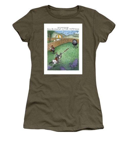 Don Quixote In The Hamptons Women's T-Shirt