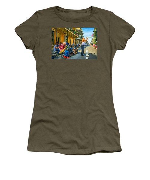 Doreen's Jazz New Orleans - Paint Women's T-Shirt (Junior Cut) by Steve Harrington