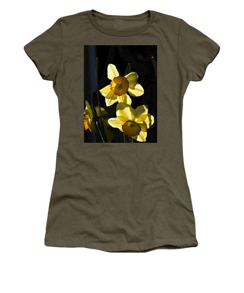 Women's T-Shirt (Junior Cut) featuring the photograph Dos Daffs by Joe Schofield