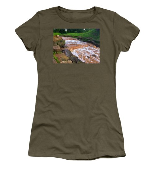 Women's T-Shirt (Junior Cut) featuring the photograph Down A Creek by Chris Tarpening