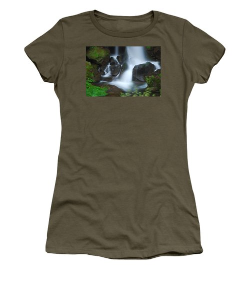 Dragon Head Falls Women's T-Shirt (Junior Cut) by Jonah  Anderson