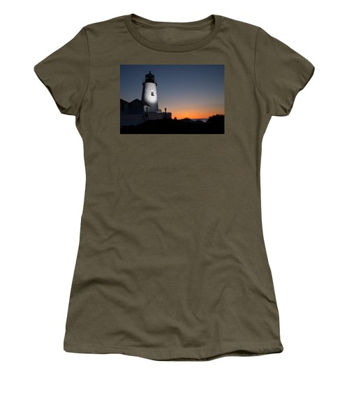 Dramatic Lighthouse Sunrise Women's T-Shirt