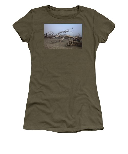 Driftwood Trees On Jekyll Island Women's T-Shirt