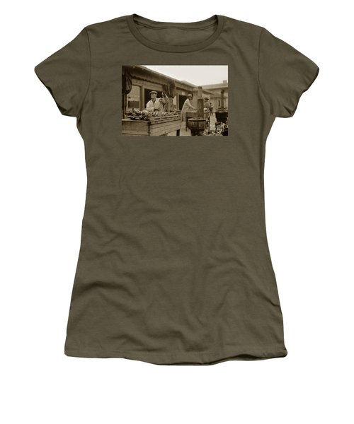Dungeness Crabs At Fisherman's Wharf At San Francisco California. Circa 1935 Women's T-Shirt