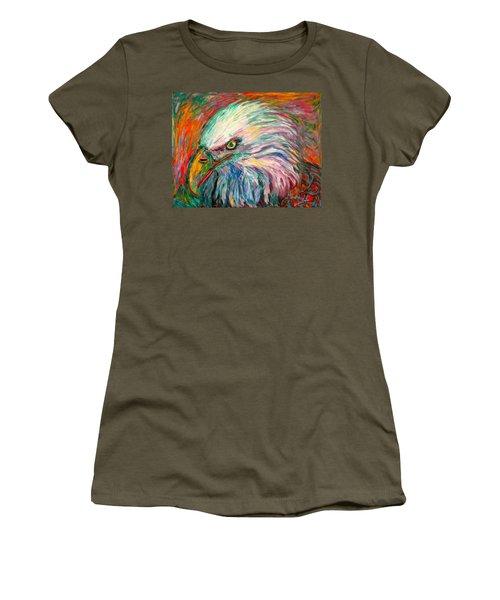 Eagle Fire Women's T-Shirt (Junior Cut) by Kendall Kessler