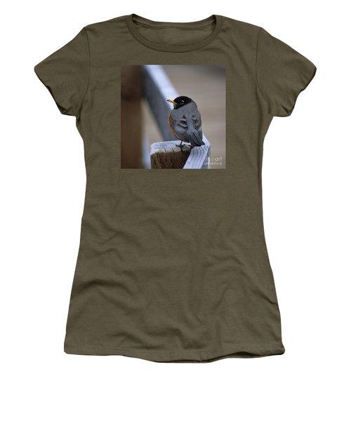 Women's T-Shirt (Junior Cut) featuring the photograph Early Bird by Sharon Elliott