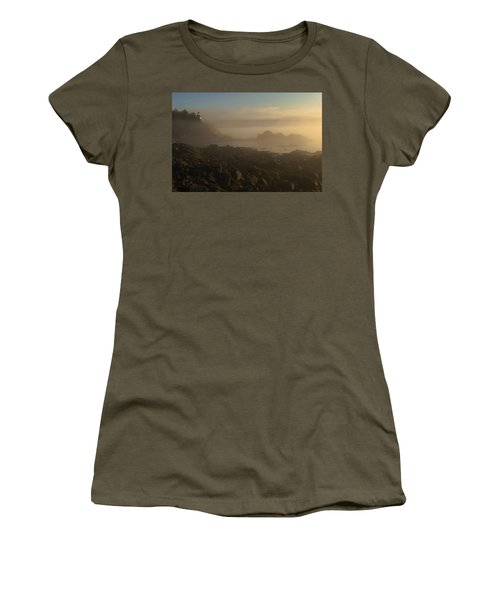 Early Morning Fog At Quoddy Women's T-Shirt (Junior Cut) by Marty Saccone