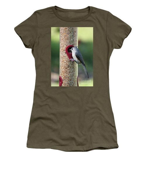 Eastern Tufted Titmouse  Women's T-Shirt (Athletic Fit)