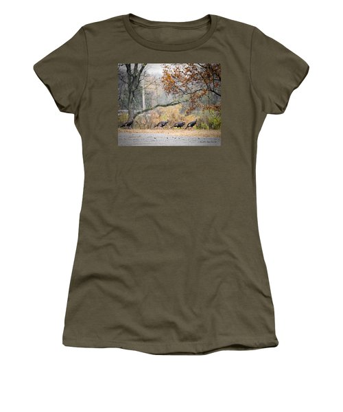 Eastern Wild Turkey  Women's T-Shirt (Athletic Fit)