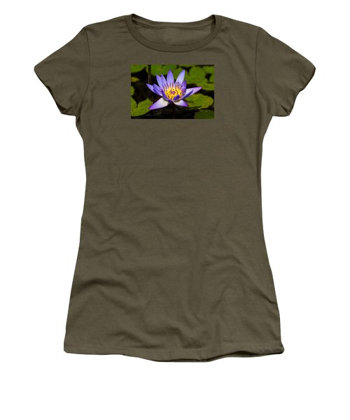 Egyptian Blue Water Lily  Women's T-Shirt (Junior Cut) by Scott Carruthers