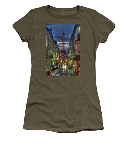 Eiffel Over Paris Women's T-Shirt (Athletic Fit)