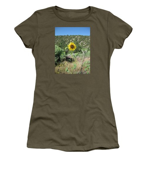 Elated Sunflower Women's T-Shirt (Athletic Fit)