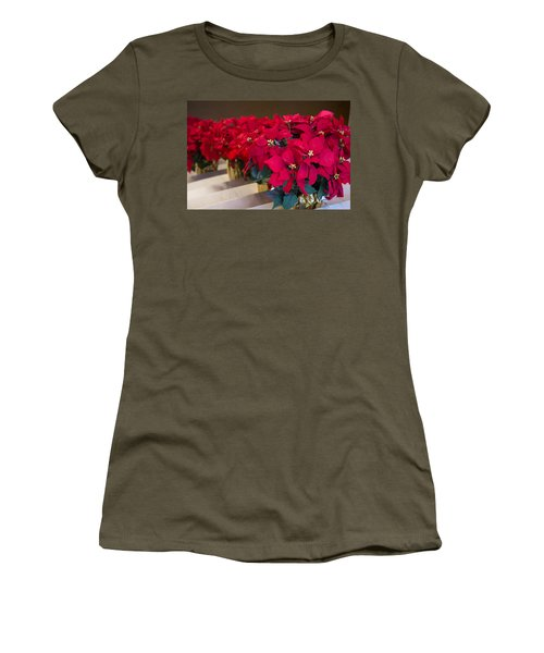 Elegant Poinsettias Women's T-Shirt (Athletic Fit)